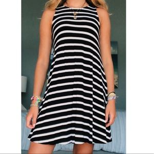 Black and White Striped Dress - Old Navy